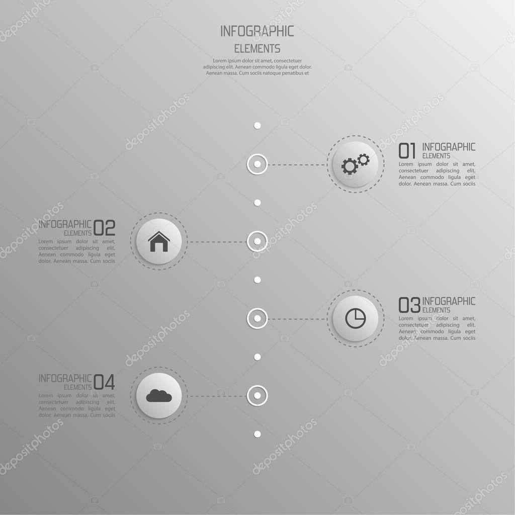 modernes Template mit Volumenelemente für Infografiken — Stockvektor ...