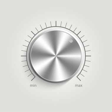 Metal vector volume music control