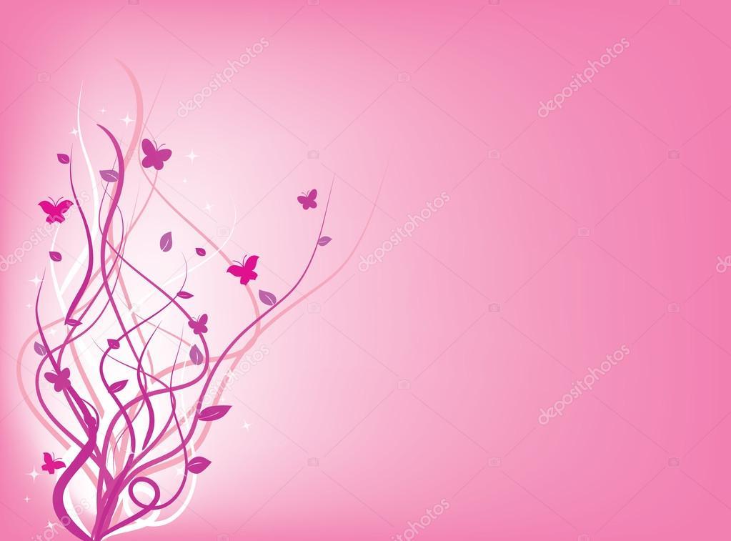 Sfondo Con Turbinii E Farfalle Nel Colore Rosa Foto Stock