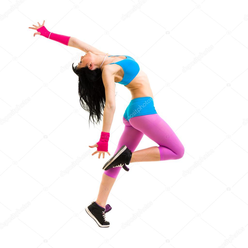 Girl dancer jumping