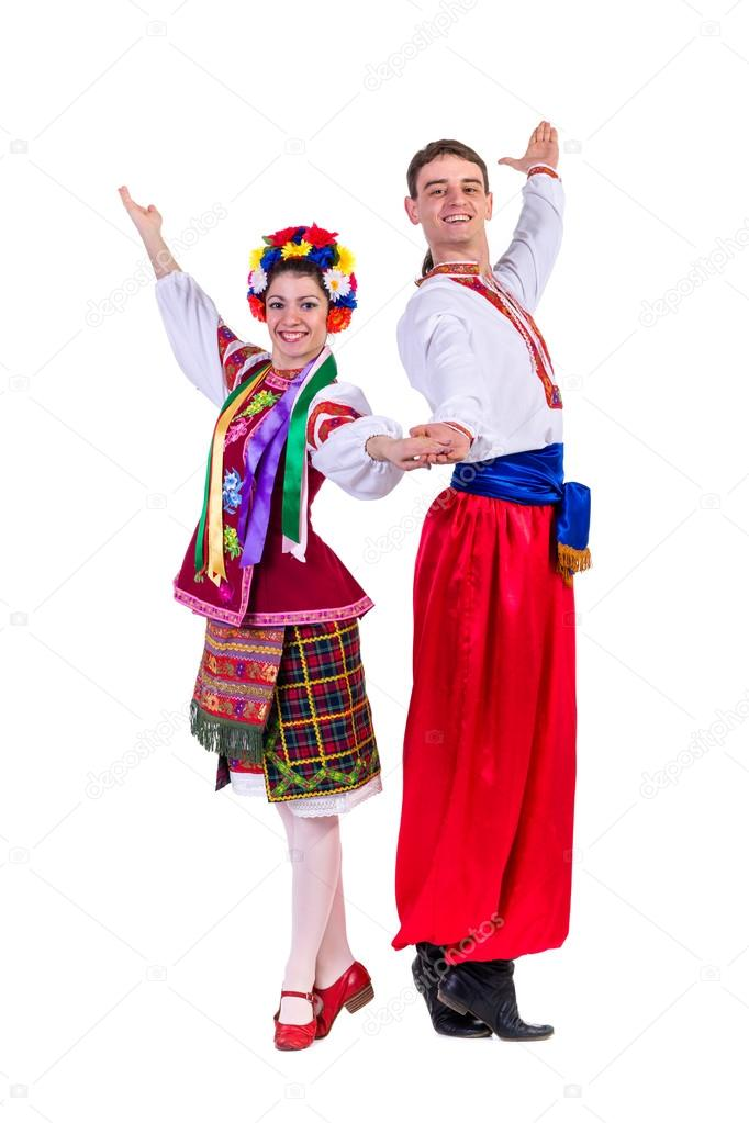Pareja polaco trajes