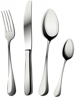 Knife, fork and spoons vector