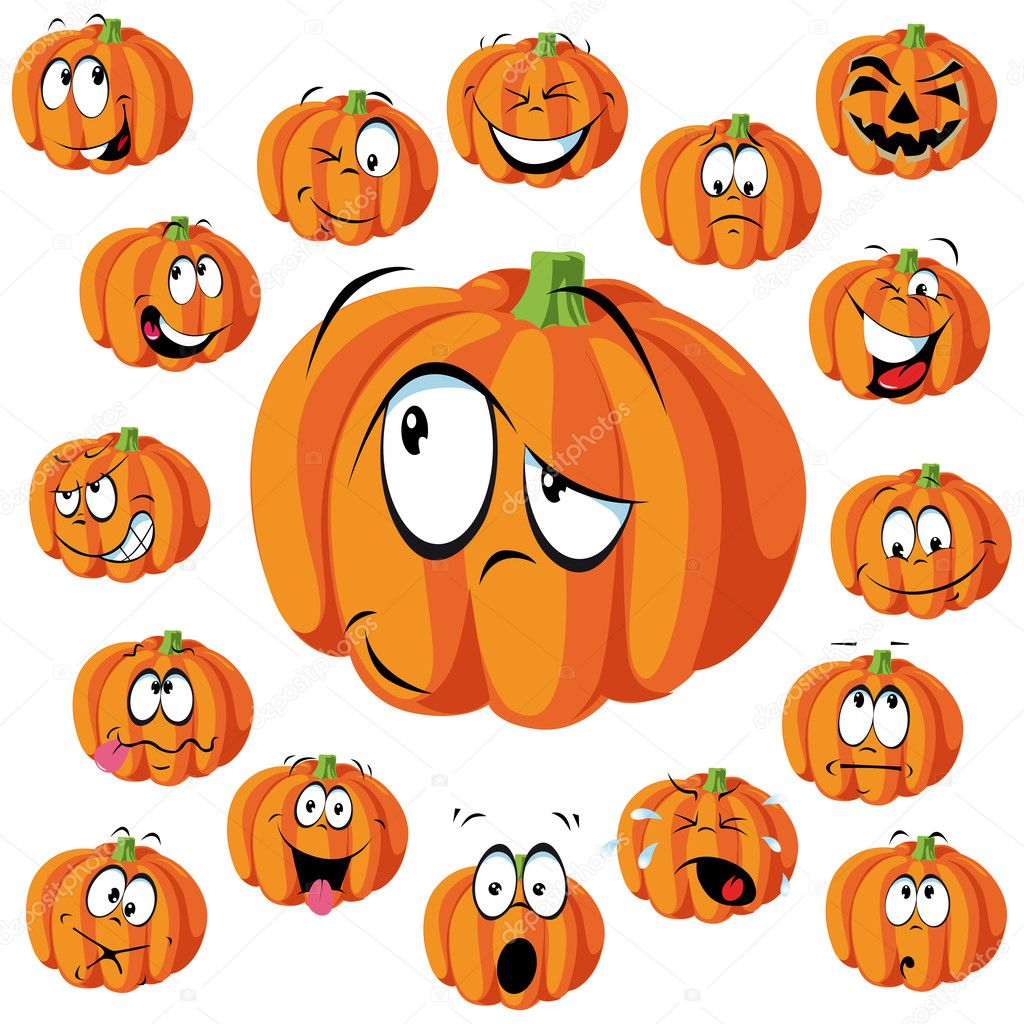 Dessin anim citrouille image vectorielle hanaschwarz 14569205 - Citrouille halloween dessin couleur ...