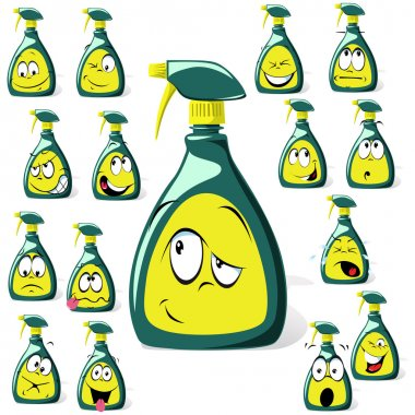 Spray bottle cartoon