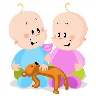 Twins - boy and girl