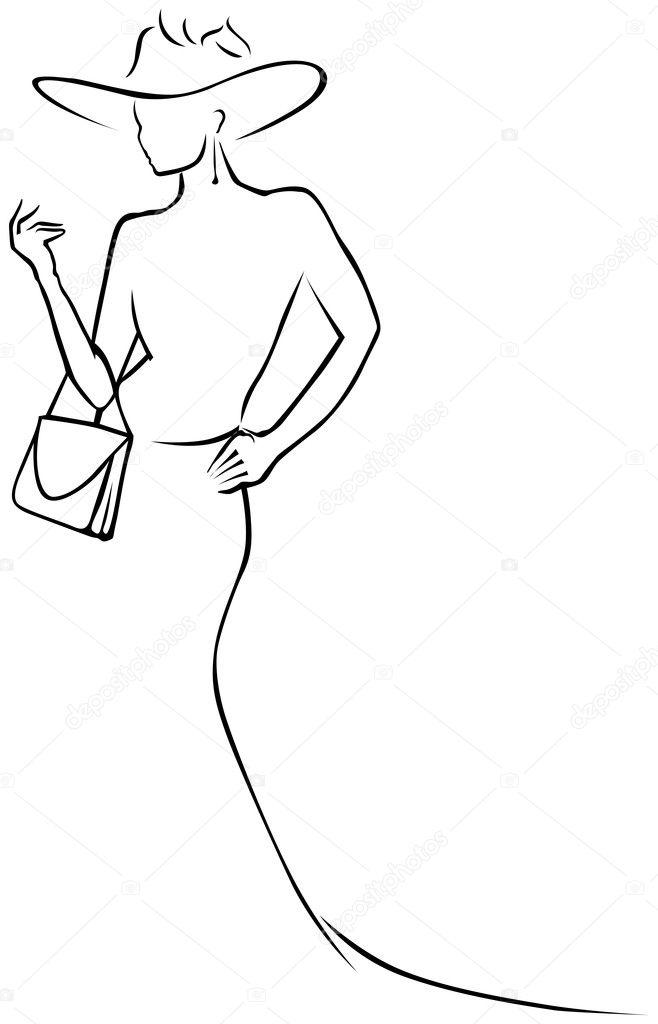 Black lines woman