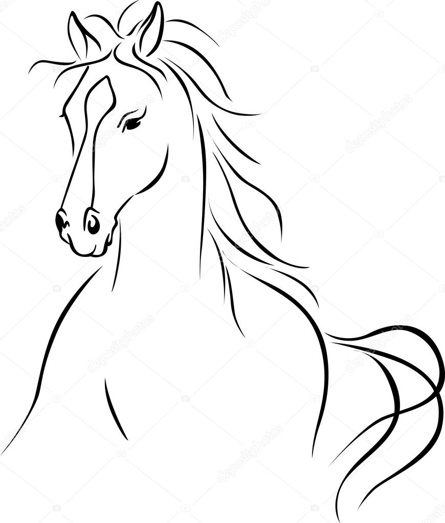 Simple Horses To Draw Horse Illustration Stock Vector C Hanaschwarz 22516159
