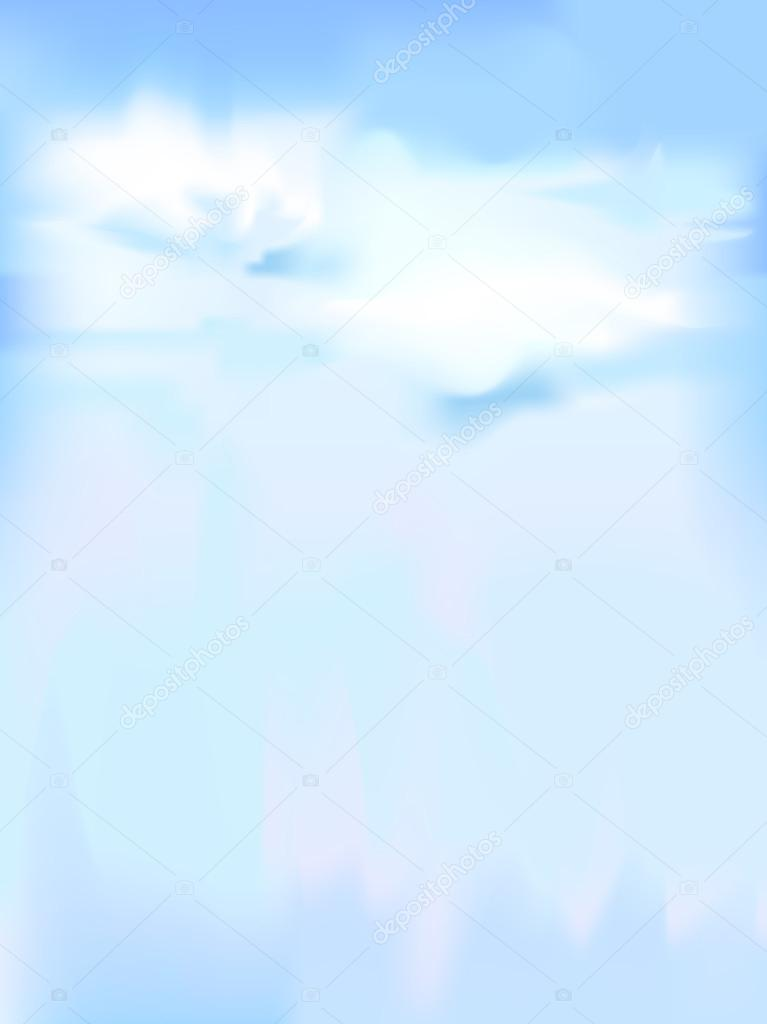 vertical vector sky - blue abstract background