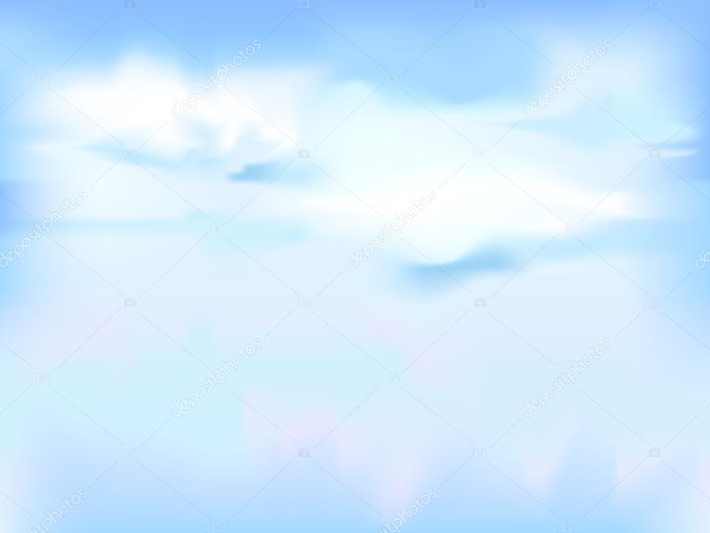 horizontal vector sky - blue abstract background