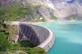 Muro di calcestruzzo la diga di kaprun centrale (no), Alpi di Salisburgo, austria