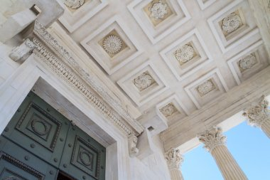 Roman Temple Details in Nimes, Provence, France