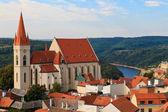 Fotografie Znojmo znaim, kyrkan av St nicolas, Tjeckien