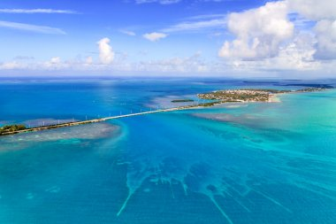 Florida Keys Aerial View with bridge