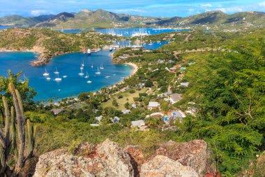 Antigua Bay Aerial View, Falmouth Bay, English Harbour, Antigua