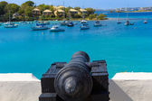 Fotografie Cannon pointing at ships in the Caribbean Sea