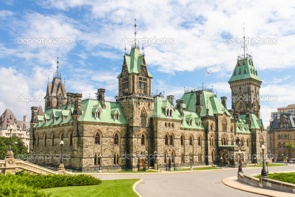 Canadian Parliament Building Gothic Revival Style Ottawa Canada Photo By Bertl123