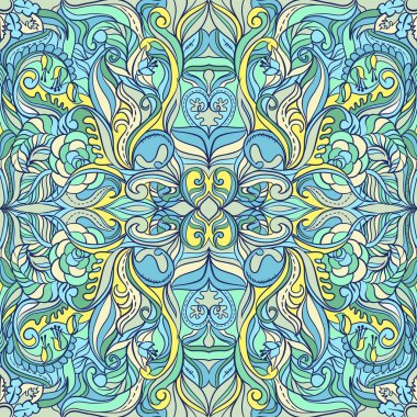 Summer Floral Colorful. Ornate Seamless Pattern