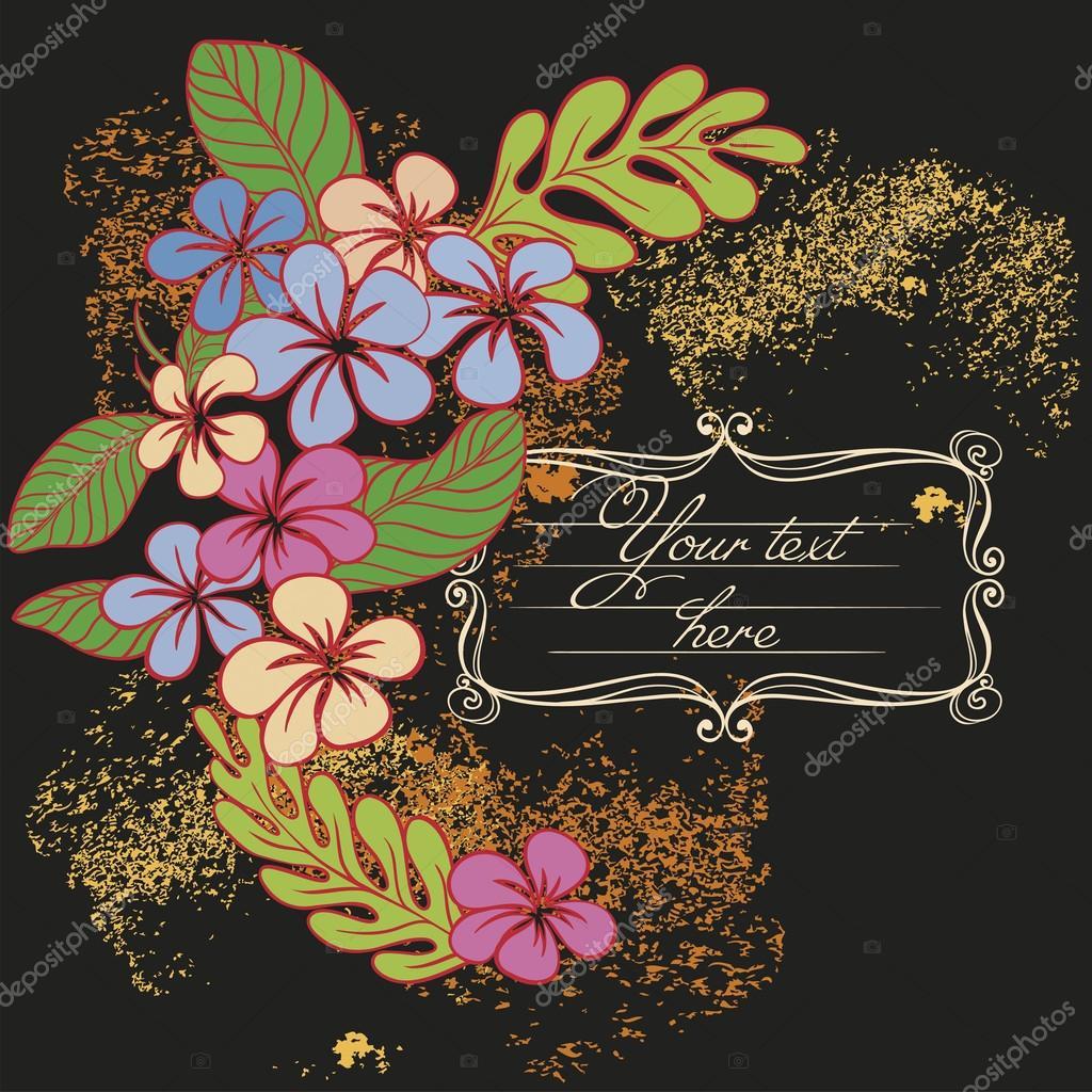 Vector invitation card with flowers vetores de stock freire vector invitation card with flowers vetores de stock stopboris Gallery