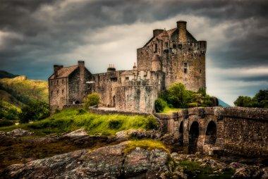 Scottish castle stock vector