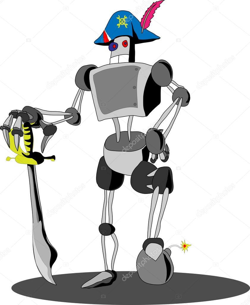 Robot in a cocked hat