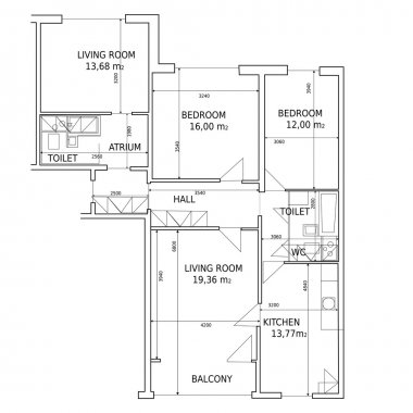 Vector hause plan of drawing building