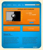 Tabletu webové stránky šablony, snadno upravitelné