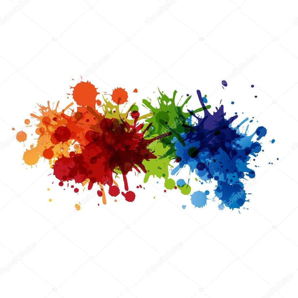 Vector paint background design, easy editable