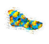 Photo Abstract shoes, easy editable