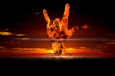 Nuclear explosion in an outdoor setting Symbol of environmental protection and the dangers of nuclear energy