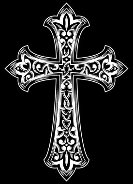 Antique Christian Cross Vector
