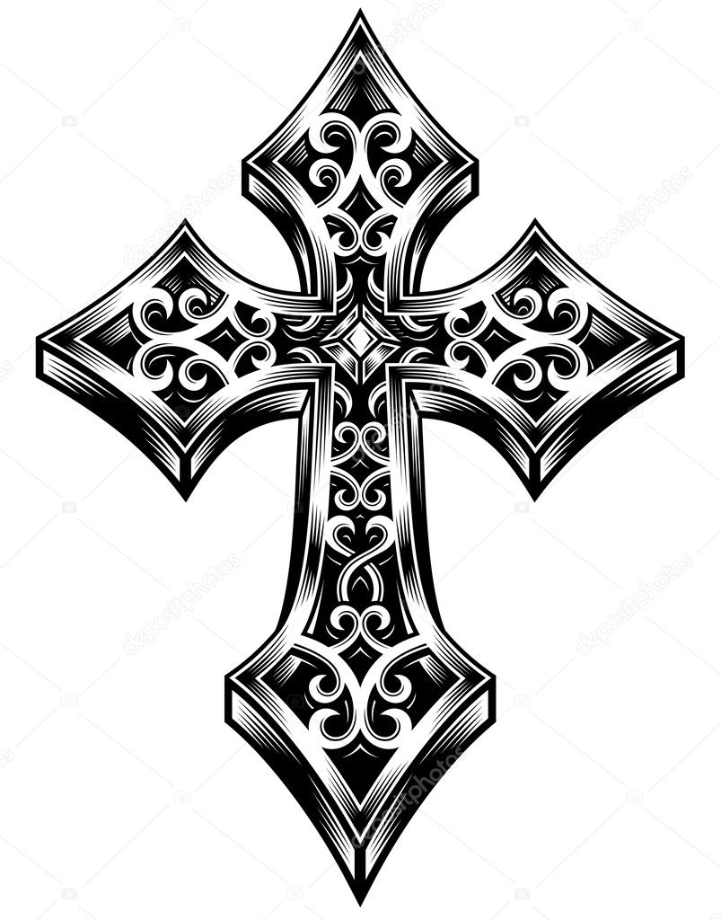 Áˆ Gothic Crosses Tattoos Stock Pictures Royalty Free Celtic Cross Tattoo Pics Download On Depositphotos