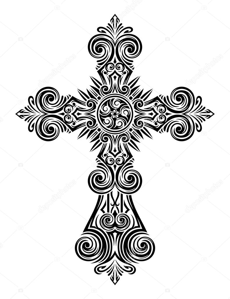 Vintage Cross Vector — Stock Vector © vectorfreak #31674195