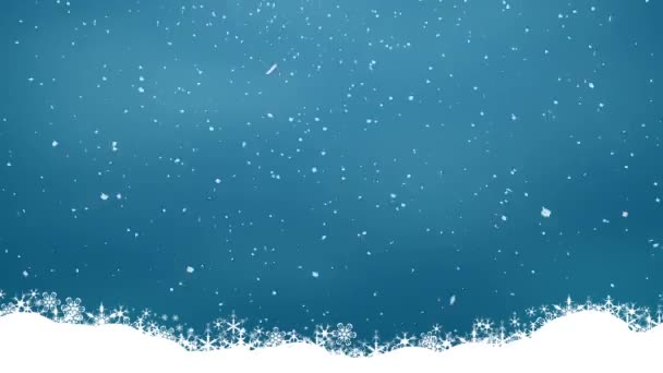 Snow on a blue background