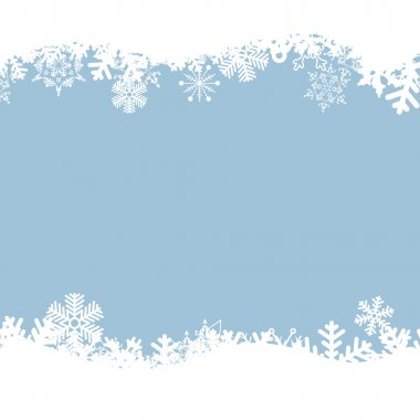 Vector blue background with snowflakes. stock vector