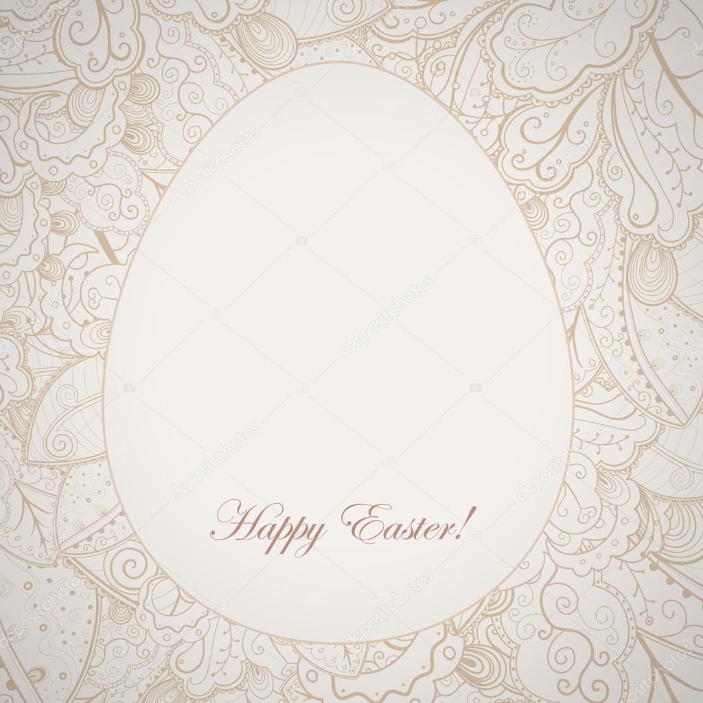 Modello elegante cornice di pasqua con uova e coniglio - Modello di uovo stampabile gratuito ...