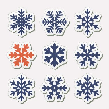 Simple snowflakes.