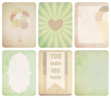 Set of journaling card for scrapbook and design.