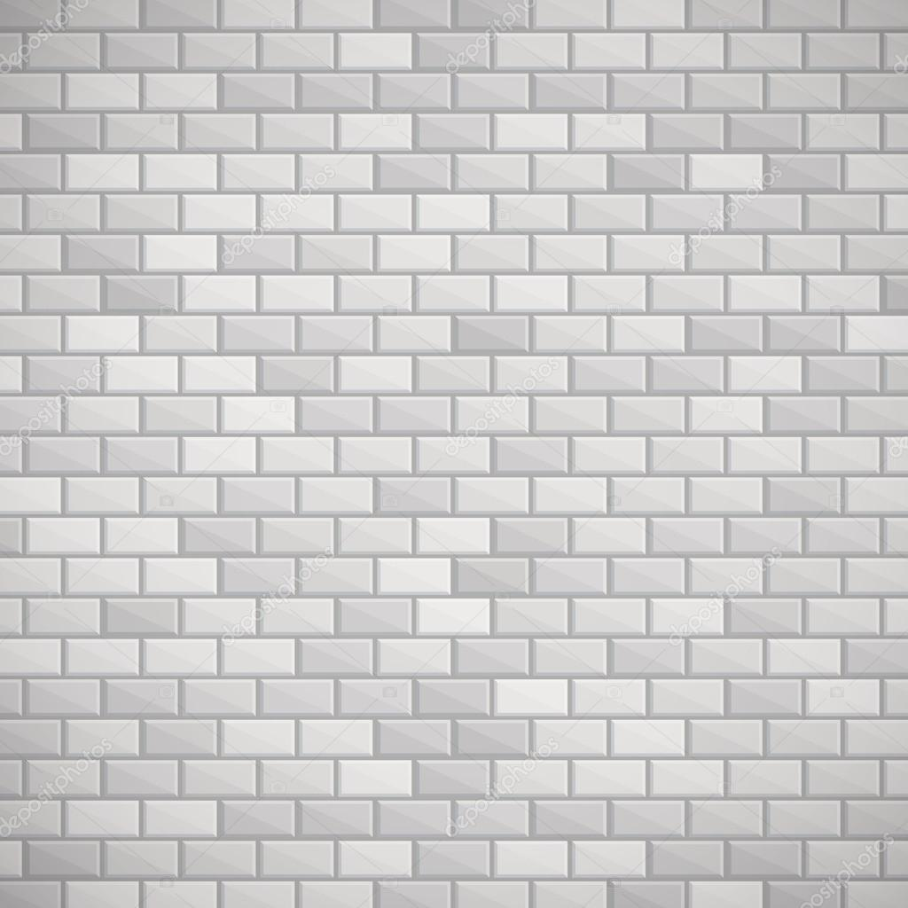 Gray brick wall.