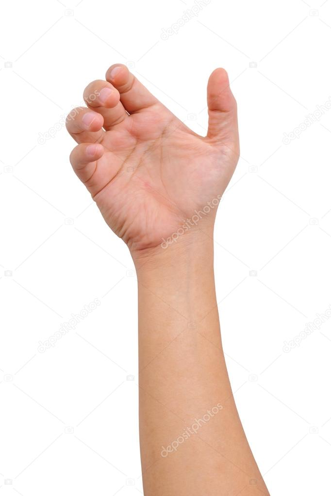 Hand of a man to hold card, mobile phone, tablet PC or other pal