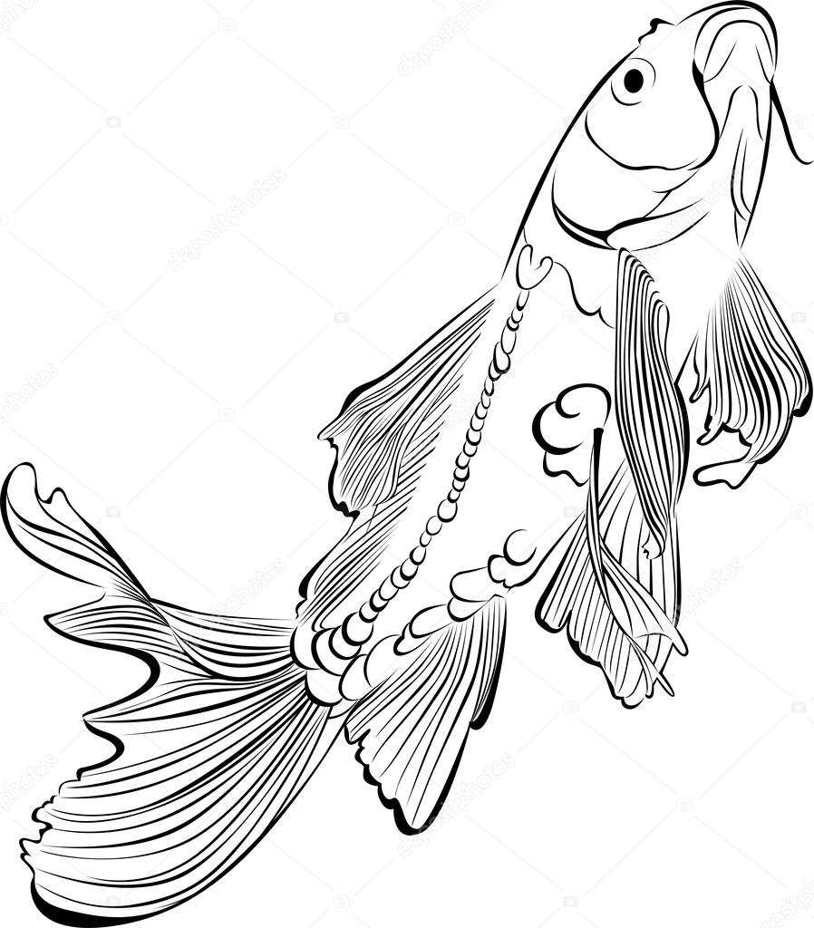 ᐈ Koi Fish Tattoo Stock Drawings Royalty Free Koi Fish Pictures Download On Depositphotos