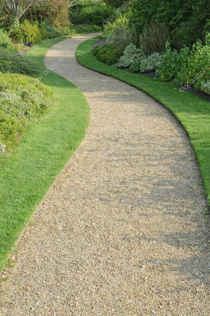 English Garden Gravel Path U2014 Stock Photo