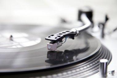 Vinyl on a turntable