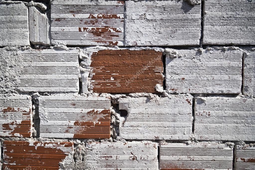 Dekorative Alte Rote Mauer Mit Tünche, Hintergrund, Textur U2014 Stockfoto