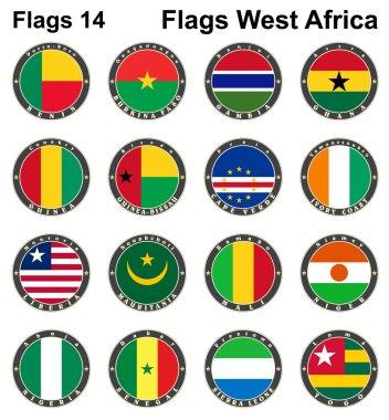 World flags. Western Africa.