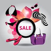 Fotografie Vektor-Illustration der großen Verkauf Poster mit verschiedenen element