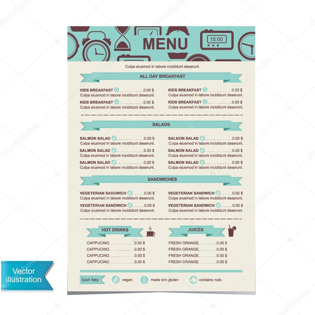 カフェ メニュー テンプレート設計図 ストック写真 marchi 29017219
