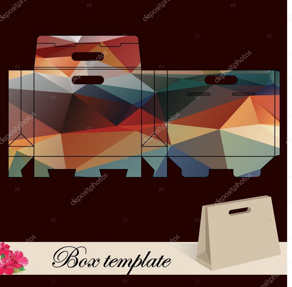 Geschenk-Box-Vorlage — Stockvektor © Marchi #36224195