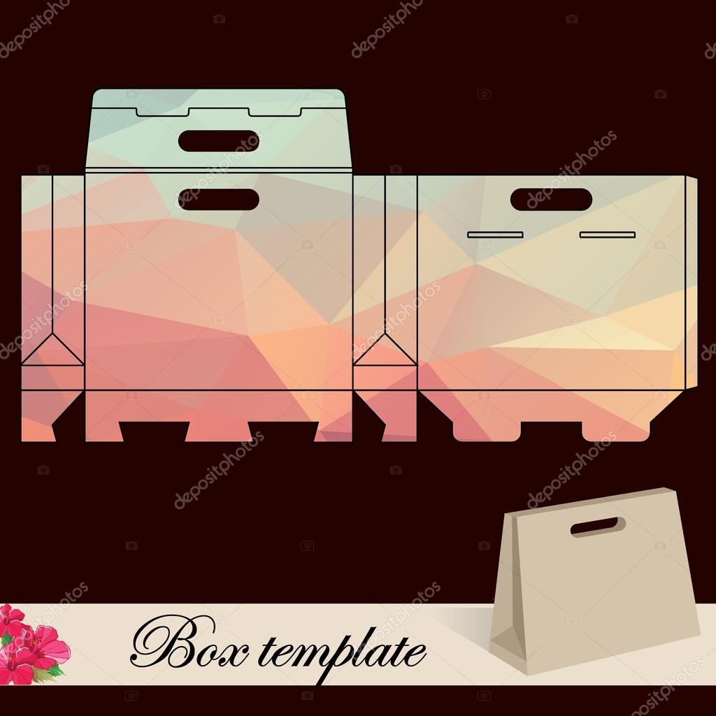 Geschenk-Box-Vorlage — Stockvektor © Marchi #39851105