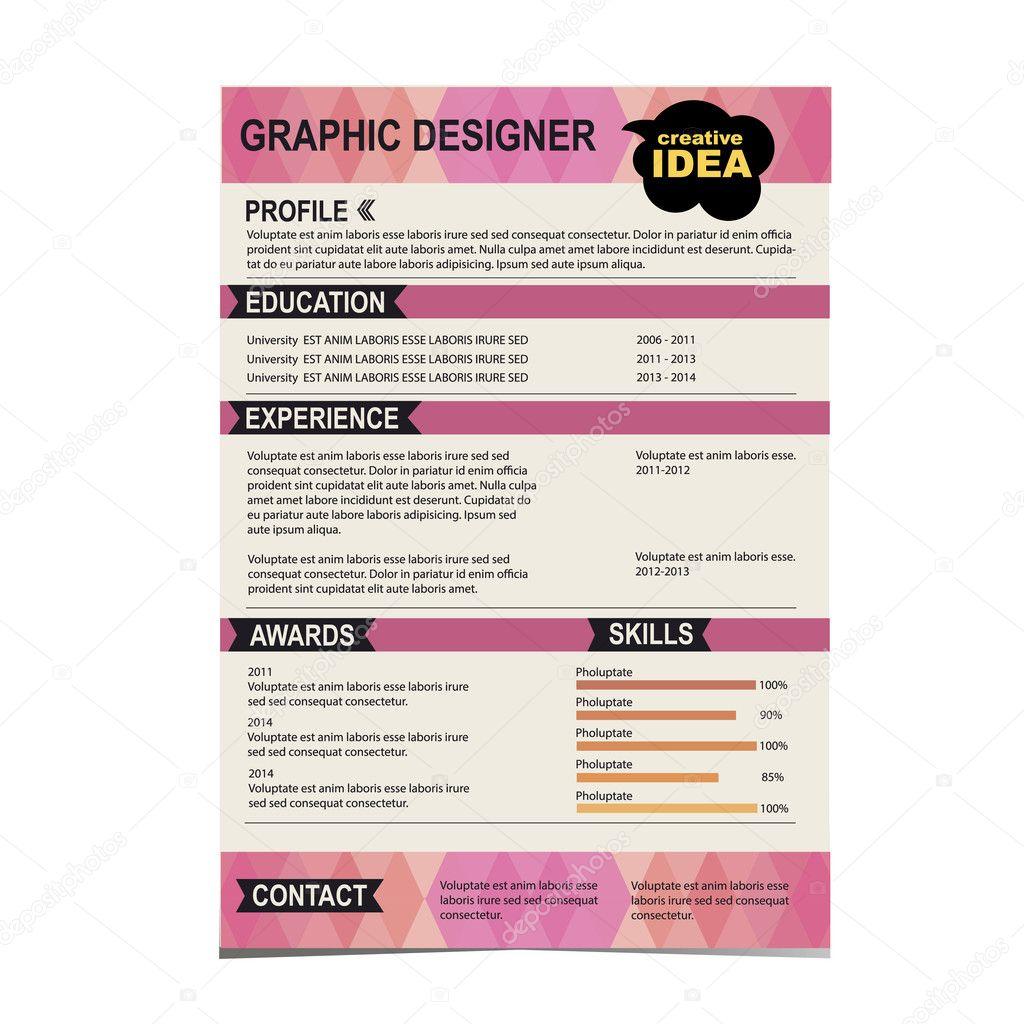 kreatív önéletrajz sablon letöltés Önéletrajz sablon. CV kreatív háttérrel. vektoros illusztráció  kreatív önéletrajz sablon letöltés