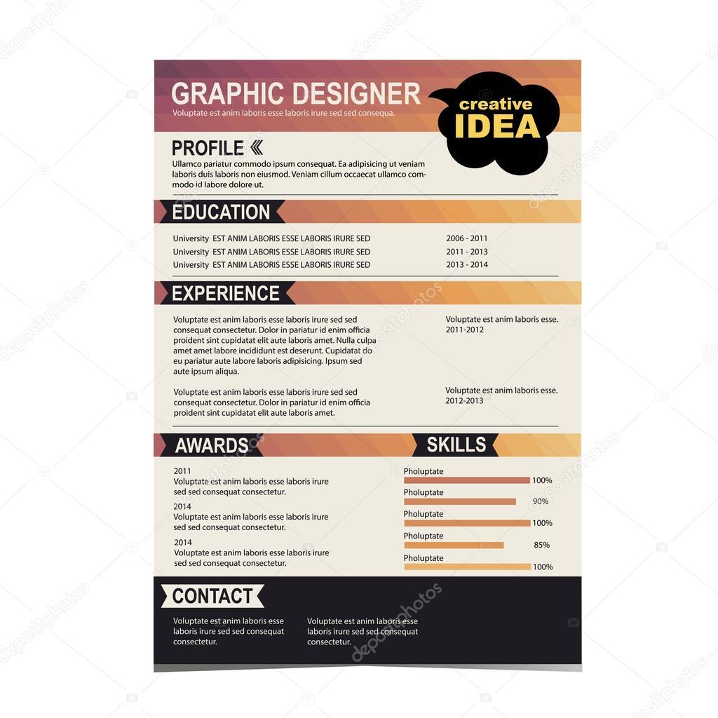önéletrajz háttér Önéletrajz sablon. CV kreatív háttér — Stock Vektor © Marchi #43379735 önéletrajz háttér